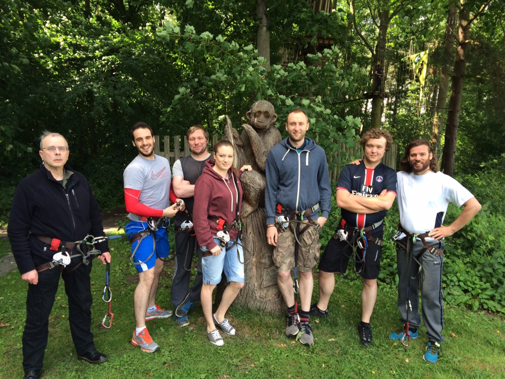 The team takes a trip to Go Ape.